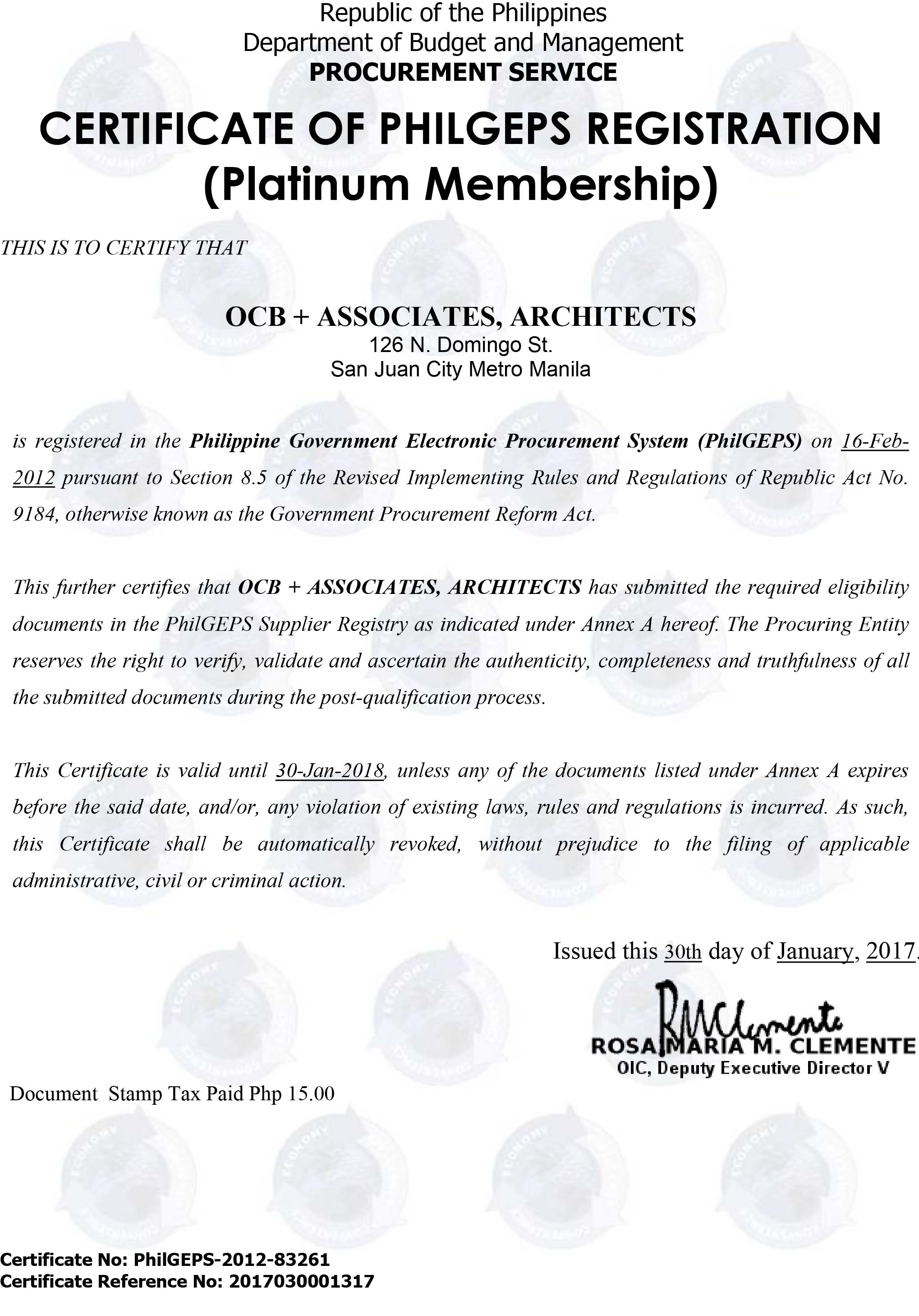 PHILGEPS certificate